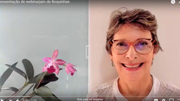 A autora Dra Renata Jardini explica mais uma novidade: webinares Boquinhas.