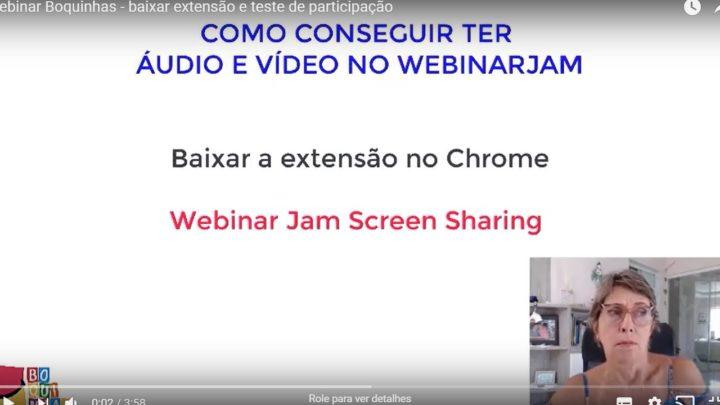 A autora Dra Renata Jardini, explica como baixar a extensão do webinarjam e testar seu equipamento.