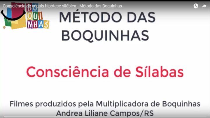 Consciência de vogais hipótese silábica – Método das Boquinhas.