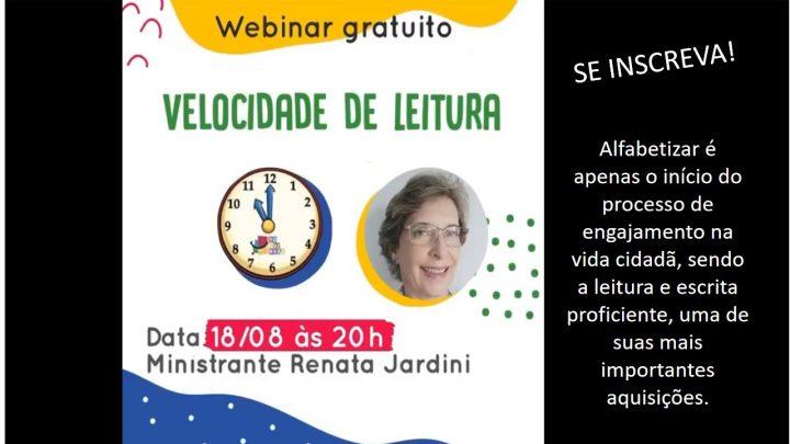 WEBINAR GRATUITO: VELOCIDADE DE LEITURA.