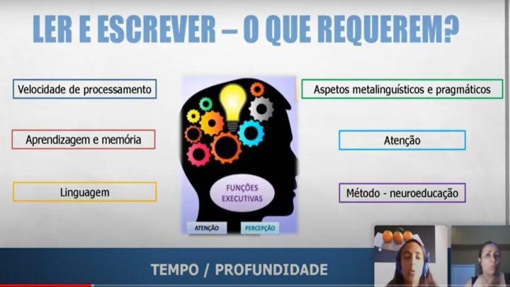 Palestra com a Multiplicadora Mafalda Ruivo de Portugal, falando sobre a importância da Alfabetização.